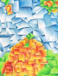 orange cubism by poseidonsimons