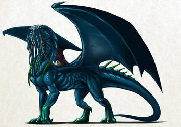 Blue Dragon by MillaMeh