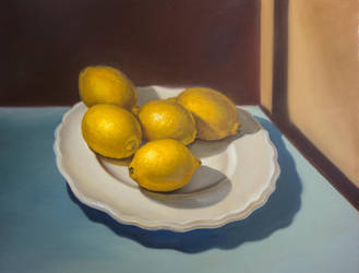Vincent's Lemons on a Plate by Astartte
