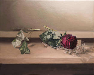 Rose - OIL PAINTING by Astartte