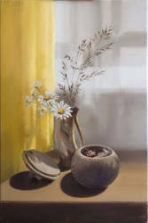 Wild Daisies - OIL PAINTING by Astartte