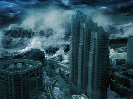 Tsunami by Jcdow3Arts
