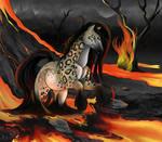 Gothicat World Commission : Efellia's Red Fire by Tsuzurao-s-Art