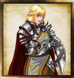 Reedia, the Paladin of Heironeous by sirarles