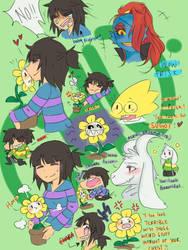 Undertale doodles 2 by servantofpsychotic