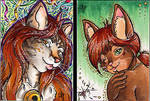 .aceo:kitties. by xailachan