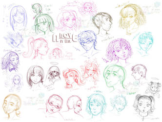 .-AIA-.Character.Heads.ONE. by xailachan