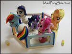 Mane 6 Baby Pony Playpen Set by MadPonyScientist
