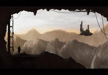 Environmental - SciFi Mountains by nikolayhranov
