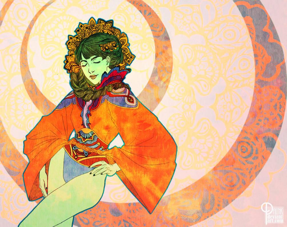 Girl in Orange by palnk