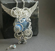 Blue Fairy - pendant by Bodza