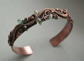 Copper Branch Cuff by Bodza