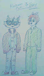 Raccoon Man and Jerry by Skylord-Charizard