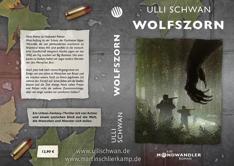 Mondwandler: Wolfszorn (Wraparound Cover) by MartinSchlierkamp