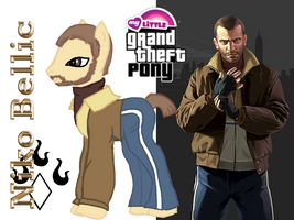 My Little Grand Theft Pony - Niko Bellic by jadestarwolf