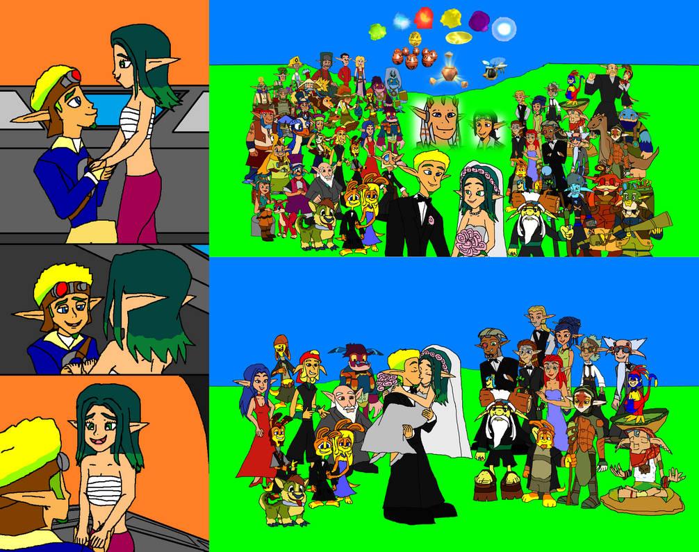 Jak And Keira Hagai Wedding Wallpaper By 9029561 On Deviantart
