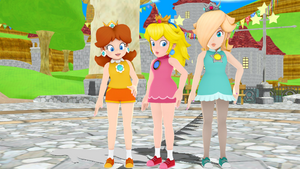 Princess Peach and Daisy and Galaxy Rosalina MMD by 9029561