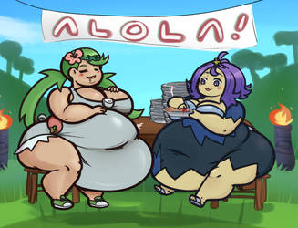 Alolan Eating Contest by LLuxury