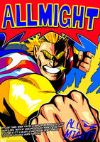 [BNHA] ALL MIGHT POSTER (print, t-shirt available) by neonUFO