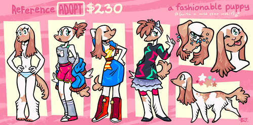 [CLOSED] ADOPTABLE: fashionable puppy (+icon) by neonUFO