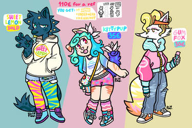[OPEN 2/3] Stripes And Sweets + full ref option by neonUFO