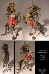 Devil Claw Bucking Horse by ART-fromthe-HEART