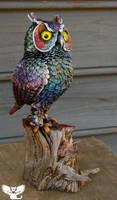 Cosmic Gourd Owl by ART-fromthe-HEART