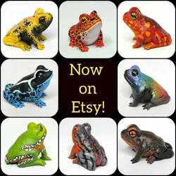New Miniature Gourd Frogs by ART-fromthe-HEART