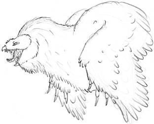 Tytoraptor clamorlarua Sketch Angry Bust by Zemeraire