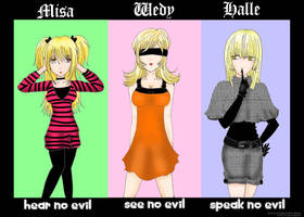 Death Note Ladies Project by generaltifa