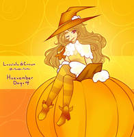 Huevember Day 4 - Pumpkin Spice Magic by witchuru