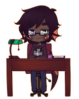 The Desk Worker [C] by witchuru