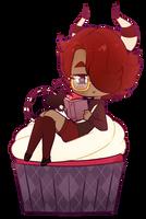 Cupcake Chibi : VelvetPandaa [C] by witchuru