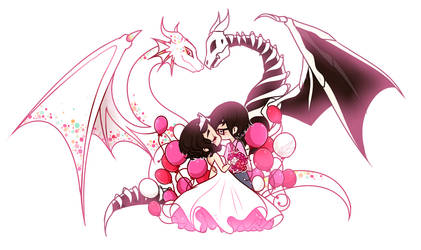 Full Feature : Pink Skull Wedding by witchuru
