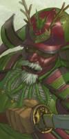 Samurai Claus by IzzyMedrano