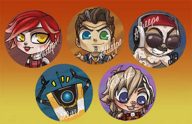 Borderlands 2 buttons by perishing-twinkie