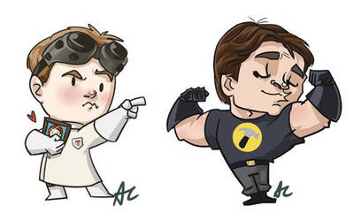 Dr Horrible Magnets by perishing-twinkie