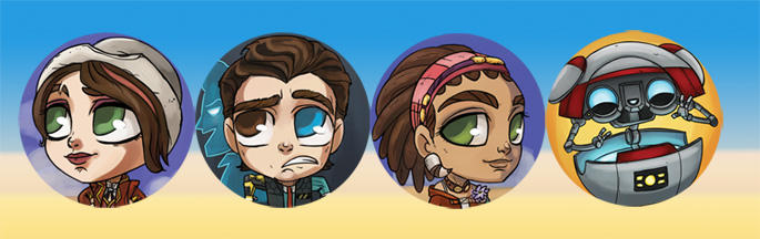 Tales from the Borderlands buttons! by perishing-twinkie