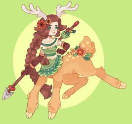 [monster girl challenge] DAY 2 - centaur by barafrog