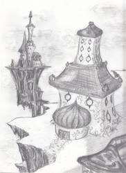 Castles on a cliff by spritephantom