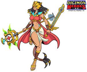 Digimon Heroes 2.0 - Sekhmetmon by HewyToonmore