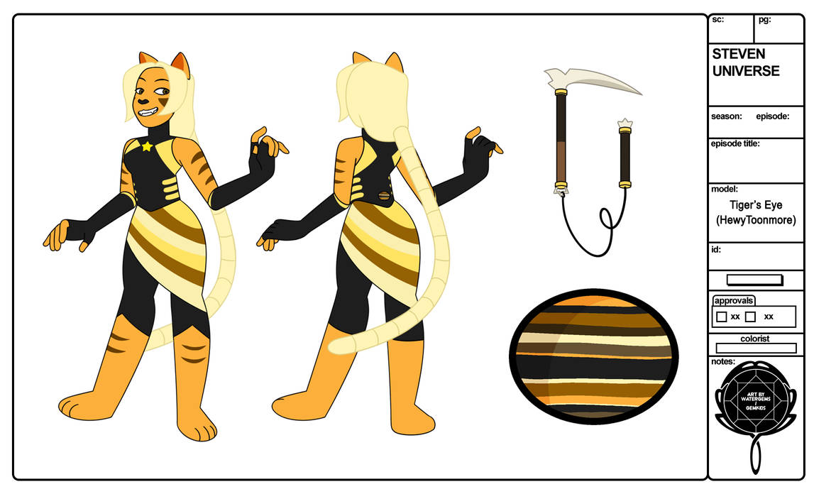 Steven Universe Oc Tigers Eye By Watergems By Hewytoonmore On