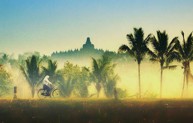 Morning At Borobudur by pelacurseni
