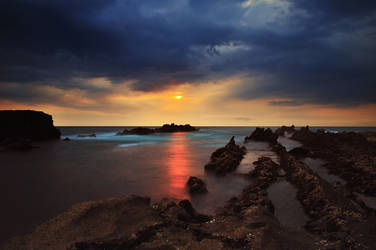 An Evening In Sawarna by pelacurseni