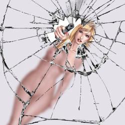 Hannah Valentine: Straight shooter wallpaper by Jaja316