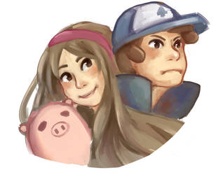 Mable and Dipper by DigitalKelby
