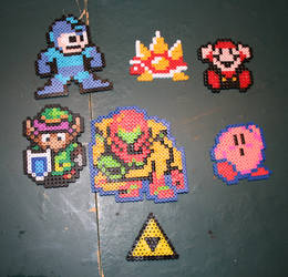 Random Nintendo Beads by Flames2Earth