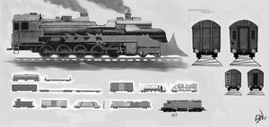 steampunk train concept by SimonWeaner