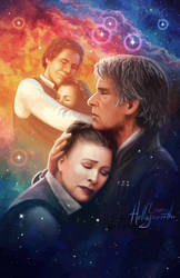 Star Wars: The Force Awakens - Leia and Han Solo by LauraHollingsworth