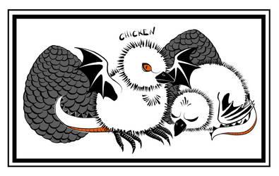 Inktober2018 - 5 - Chicken by Arachnopus